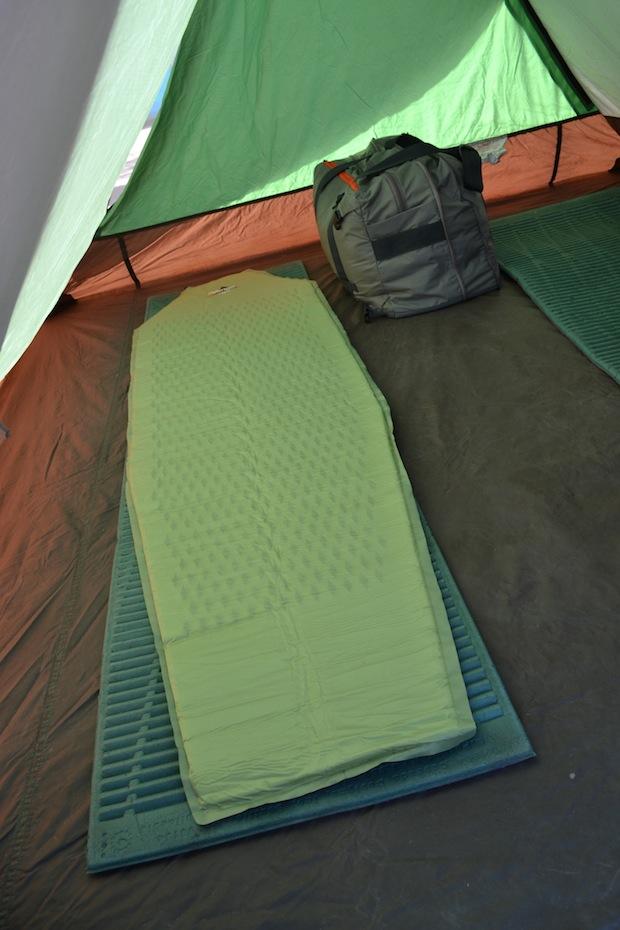 Inside a Trek America tent