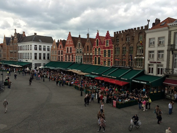 Views from the Duvel Bar in Bruges
