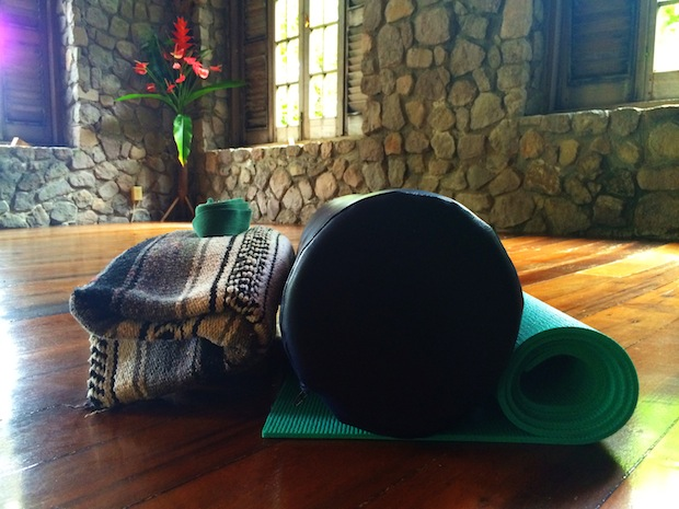 Yoga mats at Jungle Bay Dominica.