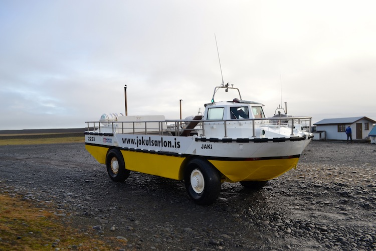 Boat trip through Jokulsarlon Glacier Lagoon