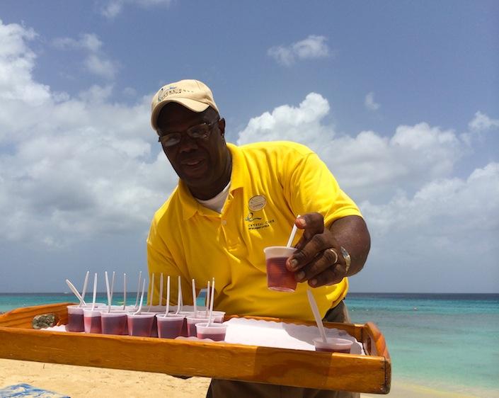 Jelly shots on the beach
