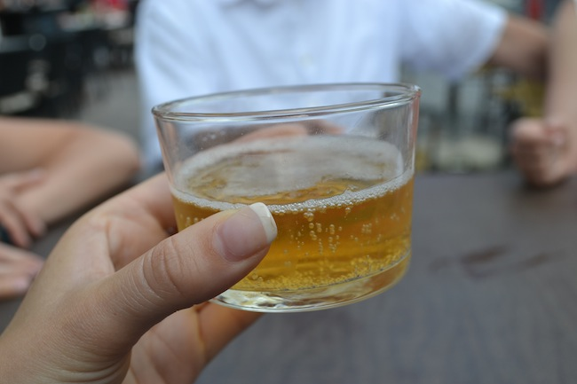 Local beer in Ljubljana