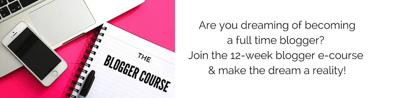 Sign up to the 12-week blogger ecourse