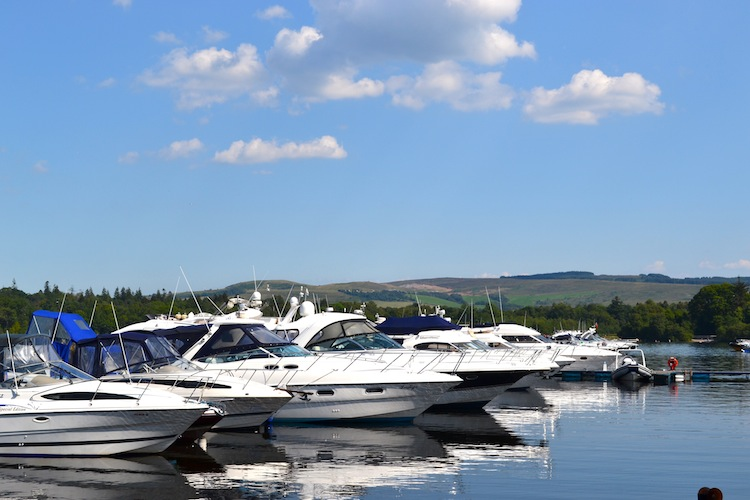 Boats on Loch Lomond