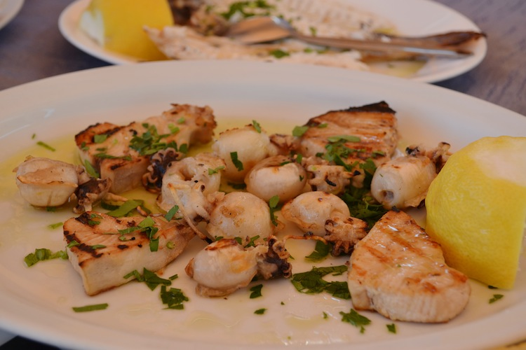 Fish meze in Cyprus