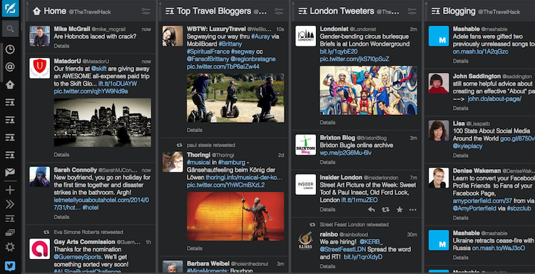How to follow blogs | Tweetdeck