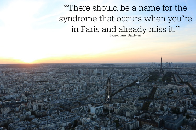 Rosecrans Baldwin quote about Paris
