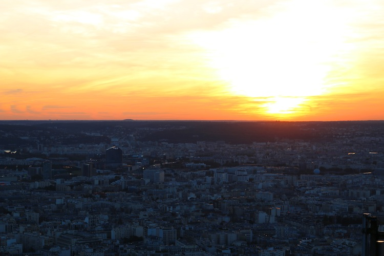 Sunset from Montparnasse Tower