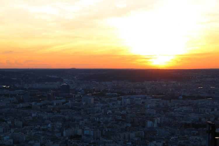 Sunset from Montparnasse Tower
