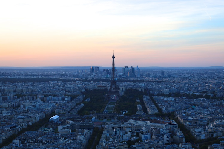 The Eiffel Tower from Montparnasse Tower