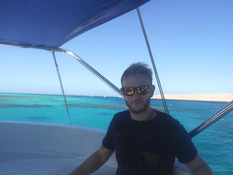Boat ride to Mahmaya Island