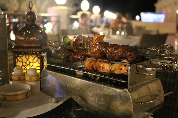 Kebabs at Baron Palace Resort Hurghada Egypt