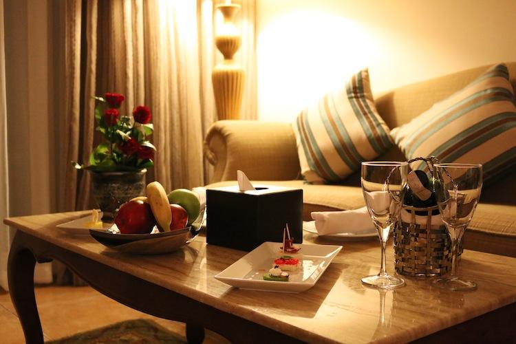 Welcome treats at Baron Palace Resort Hurghada