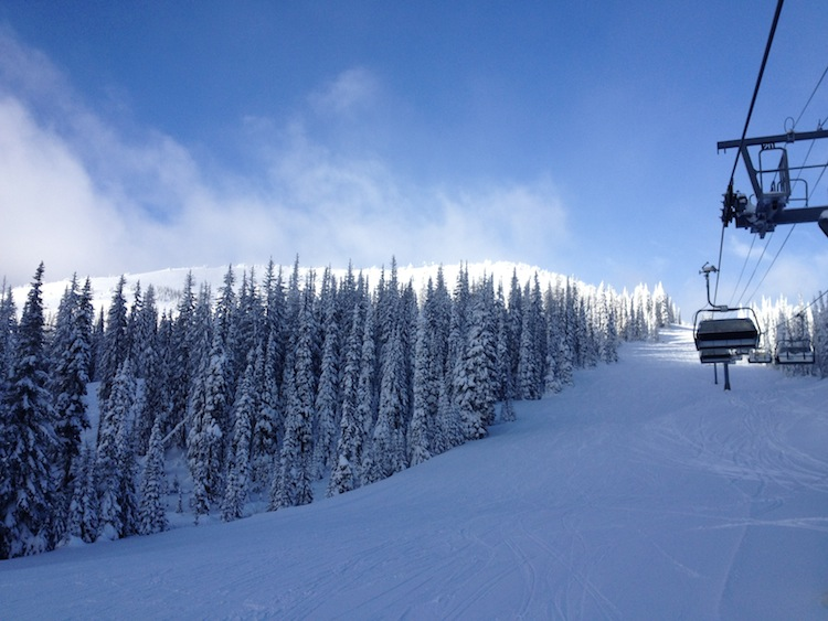 Skiing at Sun Peaks in Canada