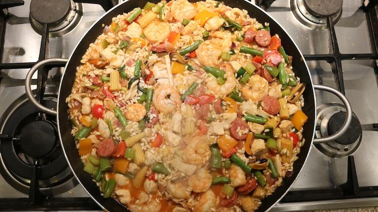 Making Paella