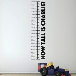 Height measurement sticker