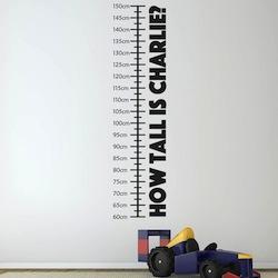 Height measurement sticker