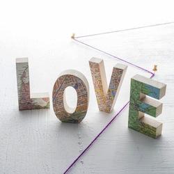 Love world map blocks