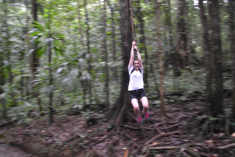 Jungle swinging in Dominica