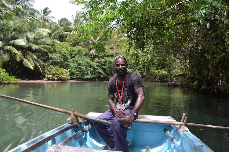 River tour guide in Dominica