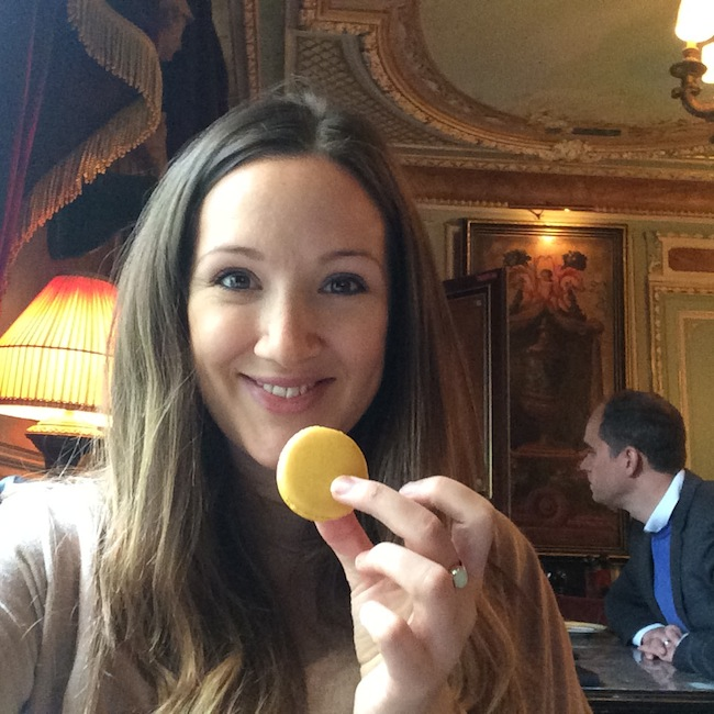 The Travel Hack eating macaroons