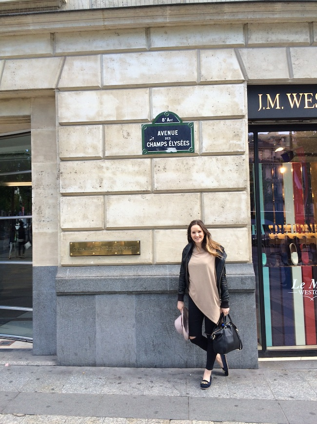 The Travel Hack shopping Champs Elysees
