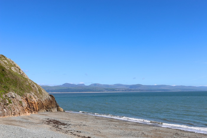 Beach in Criccieth, North Wales