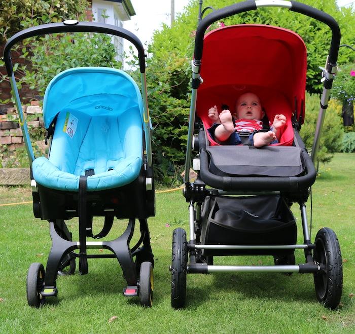 Doona pushchair car seat size