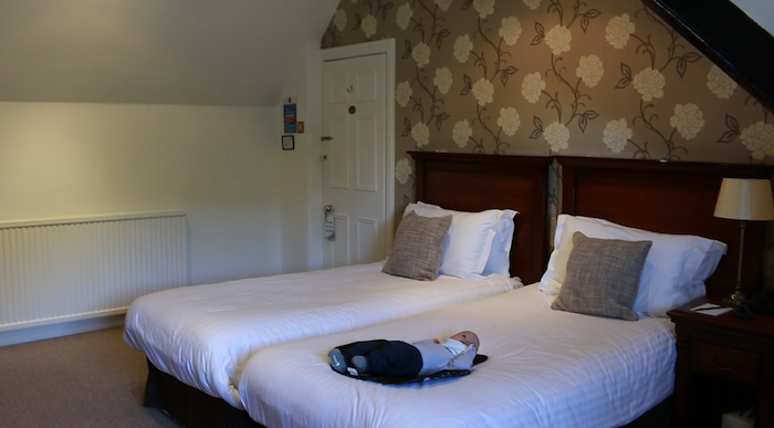 Twin bedroom at Bron Eifion Country House