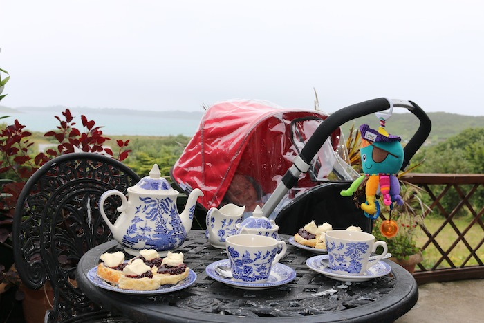 Afternoon tea on the Scilly Isles
