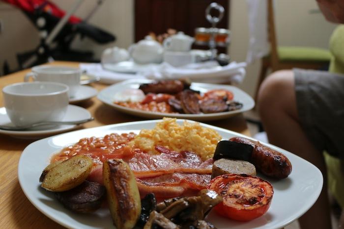 Full English Breakfast at Tregarthens