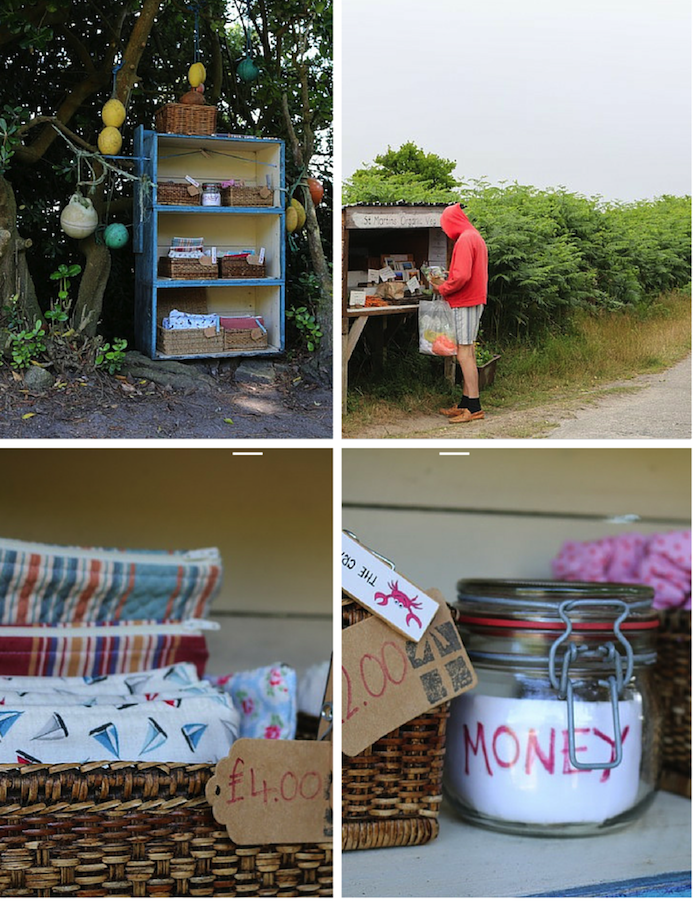 Honesty stalls on the Isles of Scilly