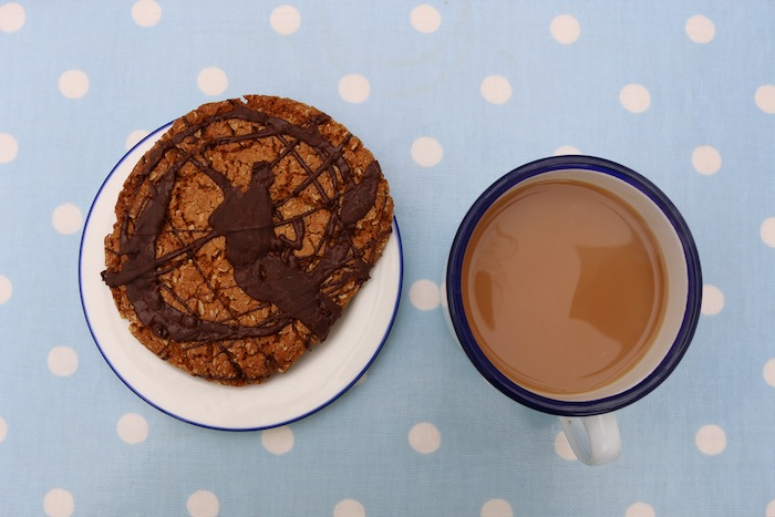 Pint of tea and a giant cookie
