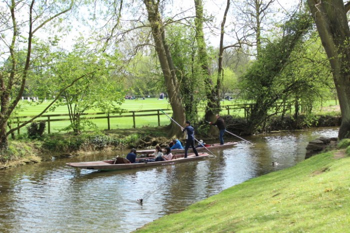 Punters on the River Cherwell, Oxford