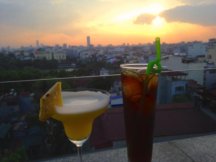 sunset cocktails hanoi