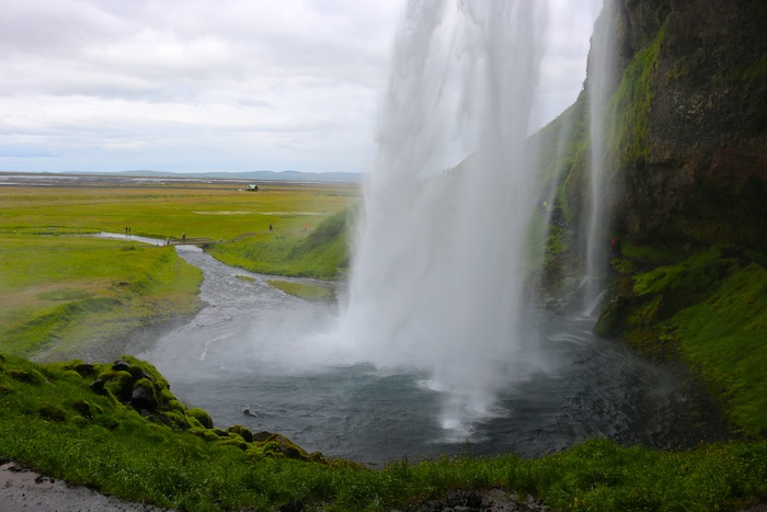 Behind Seljalandfoss Waterfall