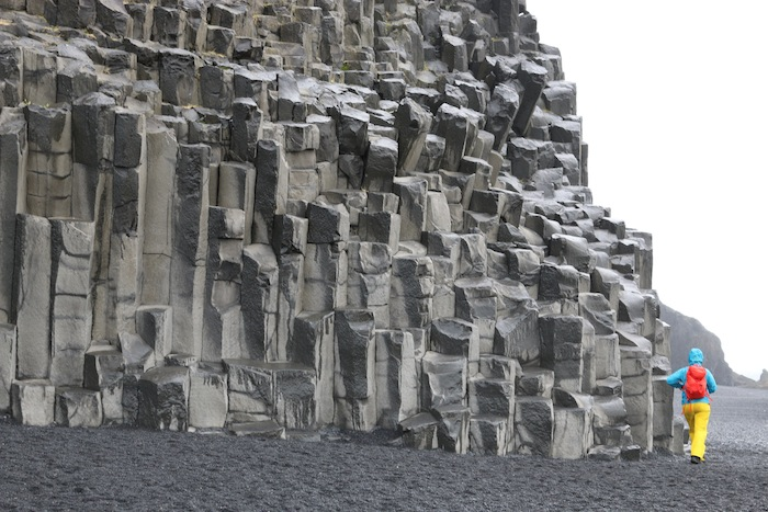 Collums on Reynisfjara Beach