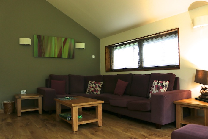 Forest Holidays Silver Birch Cabin - Living room Sherwood Forest