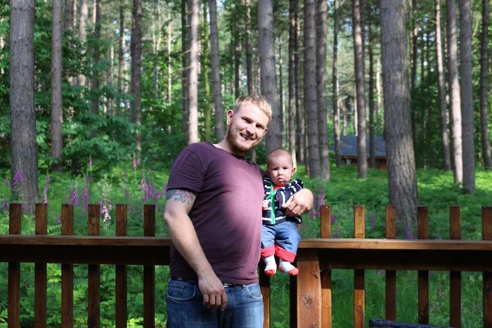Forest Holidays Silver Birch Cabin veranda