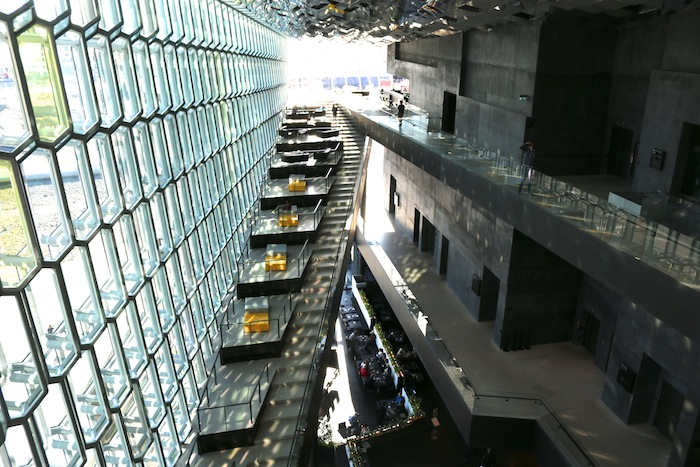 Harpa Concert Hall from the top inside