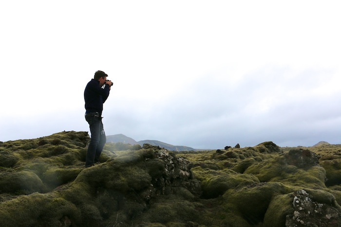 Taking photos in Iceland