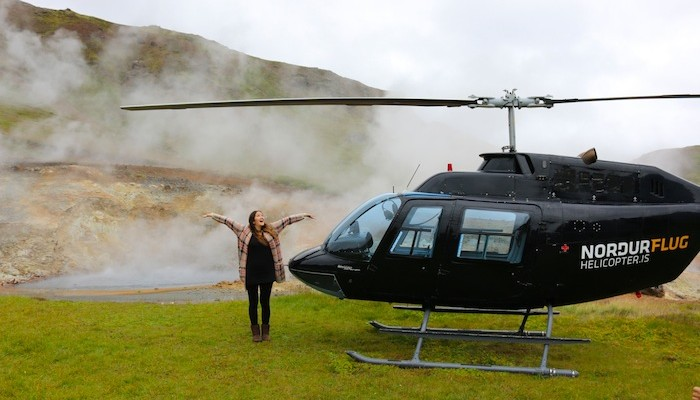 The Travel Hack helicopter ride in Iceland