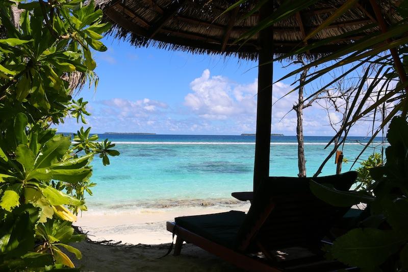 Coco Palm Dhuni Kolhu sun lounger in deluxe villa