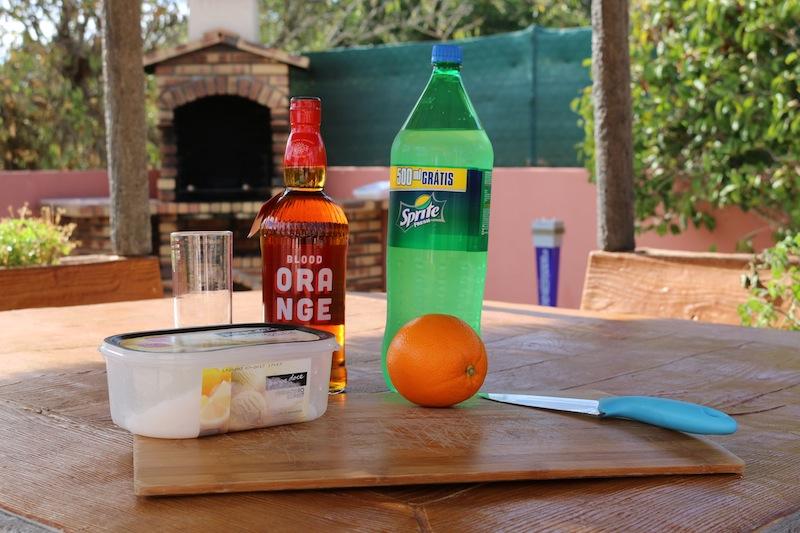 Frozen Blood Orange Cocktails