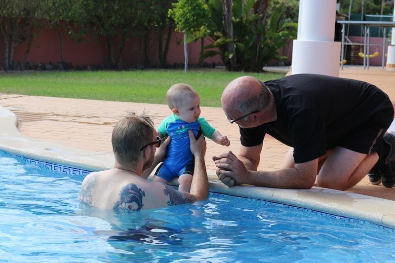George's first swim