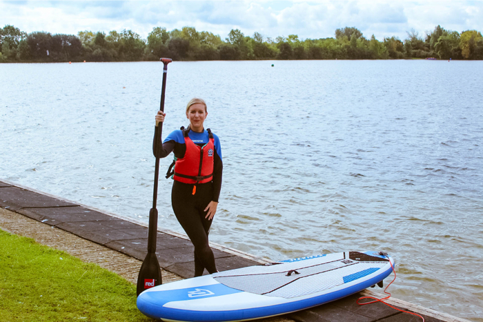 Paddleboarding at the Cotswold Water Park