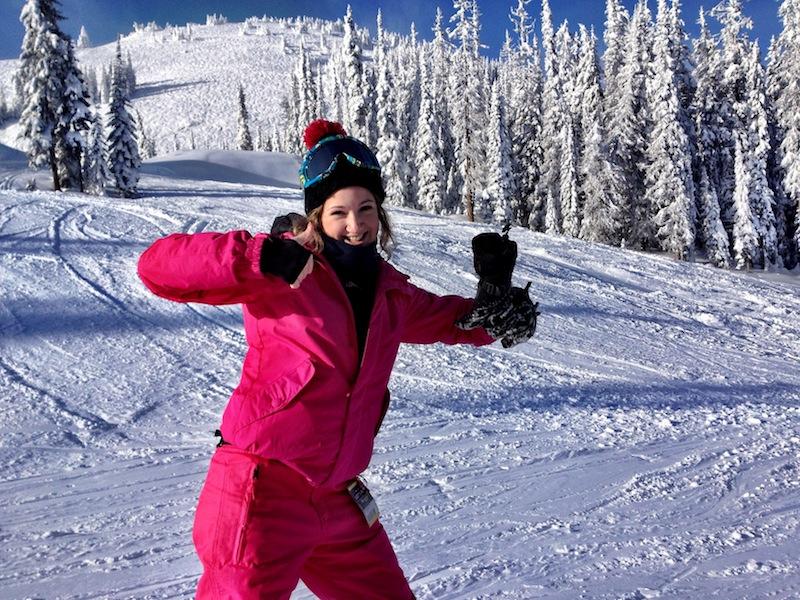 Skiing or snowboarding