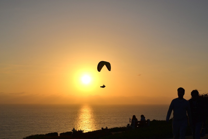 Skyglider at sunset