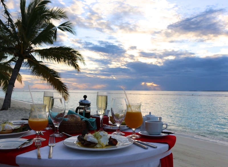 Sunrise breakfast at Coco Palm Dhuni Kolhu