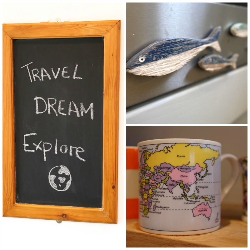 Travel themed kitchen ideas